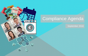 Photo for article Compliance Agenda - September 2018