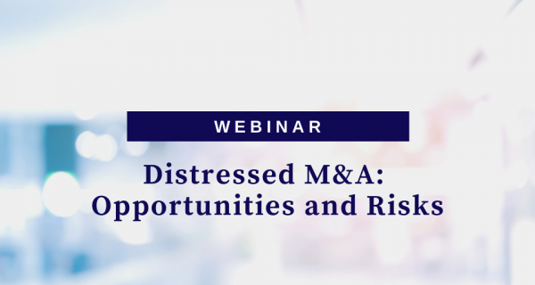 Photo to illustrate article Distressed M&A – Opportunities and Risks.