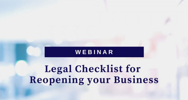 Photo to illustrate article Legal Checklist for Reopening your Business.