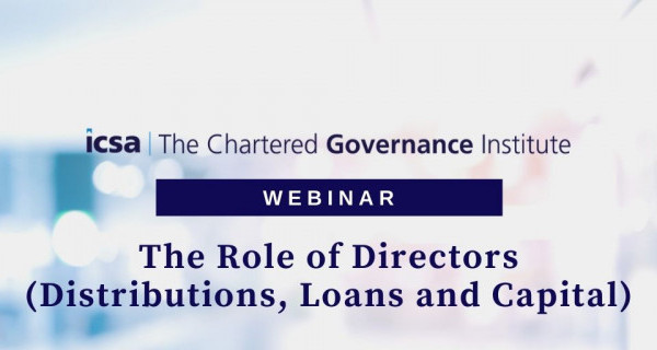 Photo to illustrate article Webinar: The Role of Directors in Distributions, Loans and Capital.