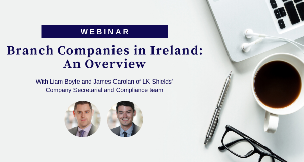 Photo to illustrate article Webinar: Branch Companies in Ireland: An Overview.